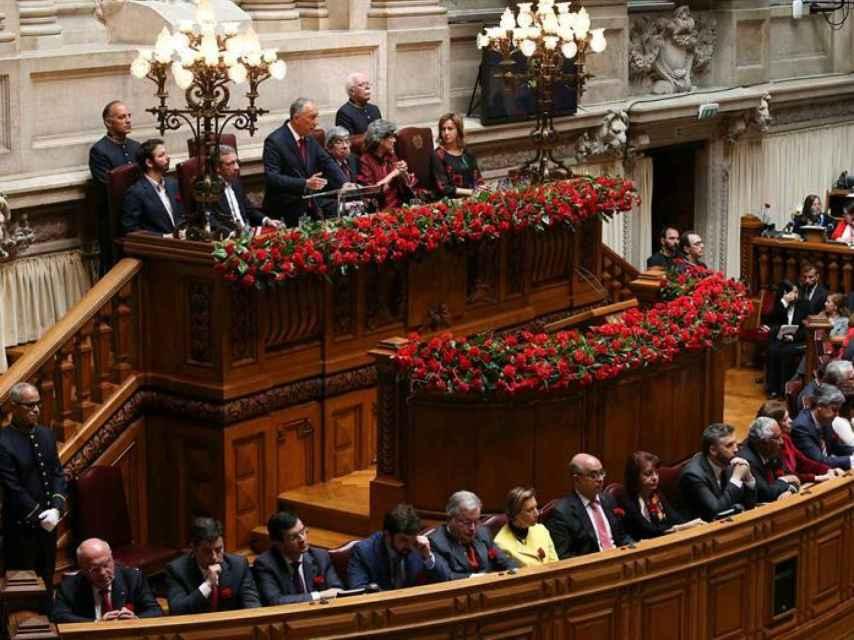 La Asamblea de la República en el aniversario del 25 de abril.