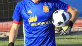 Iker Casillas, con la Selección