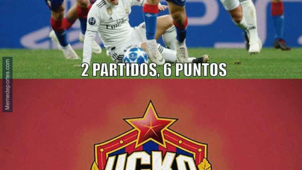 Meme Real Madrid - CSKA de Moscú