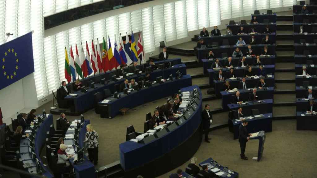 Imagen del pleno de la Eurocámara este miércoles.