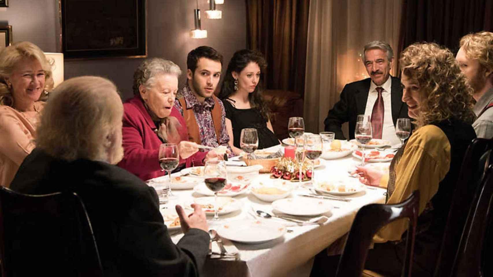 Una Nochebuena en la serie de televisión 'Cuéntame'.