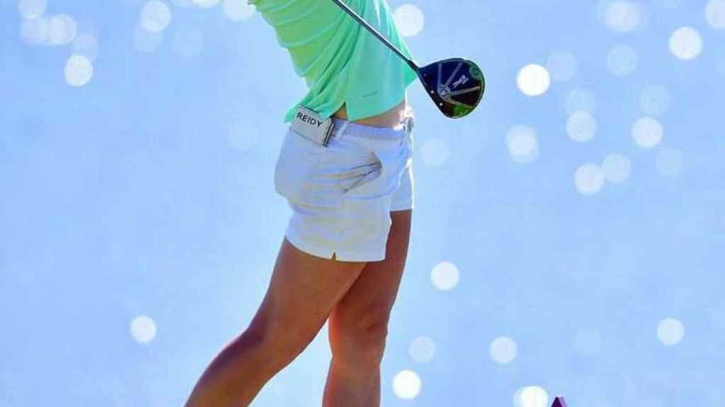 Mel Reid, golfista. Foto: Twitter (@melreidgolf)