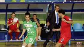 David Ramos en una imagen de archivo como entrenador del Puertollano FS