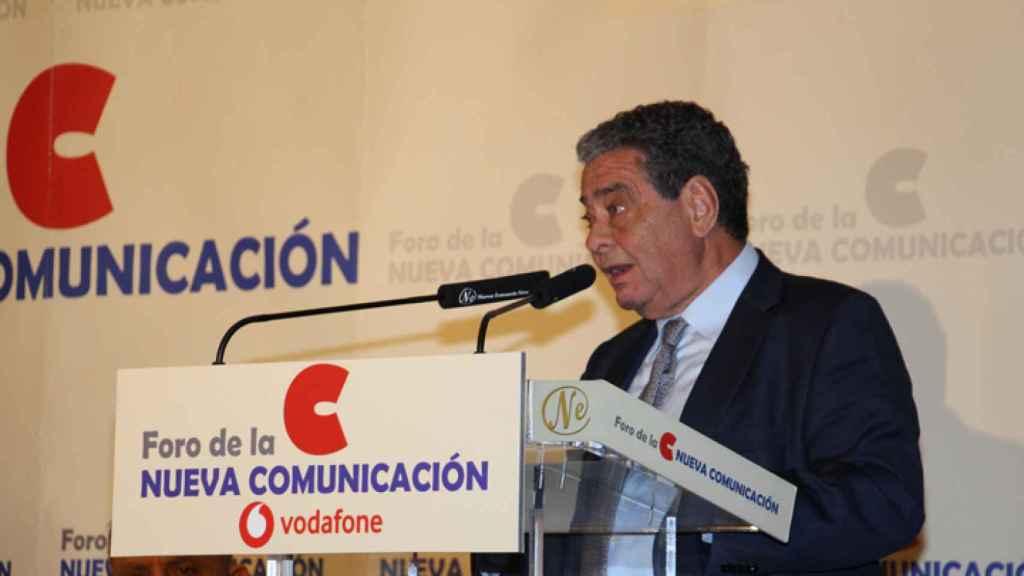 Agusto Delkáder durante su intervención en el Foro de la Nueva Comunicación.