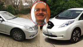 Miguel Ángel tiene dos coches: uno diésel y otro eléctrico.