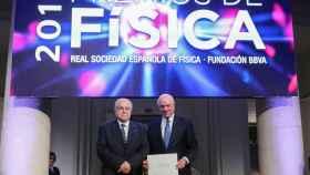 El presidente de la Fundación BBVA, en la entrega de los Premios de Física.