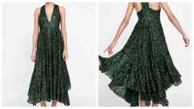 El vestido de Zara en un montaje.