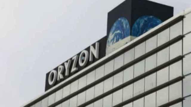 Rótulo en las instalaciones de Oryzon Genomics.