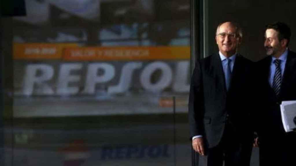 Antoni Brufau y Josu Jon Imaz, presidente y CEO de Repsol tras la compra de los activos de Viesgo.