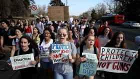 Una protesta en contra de las armas en EEUU.