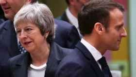 May y Macron, durante la cumbre del 'brexit'