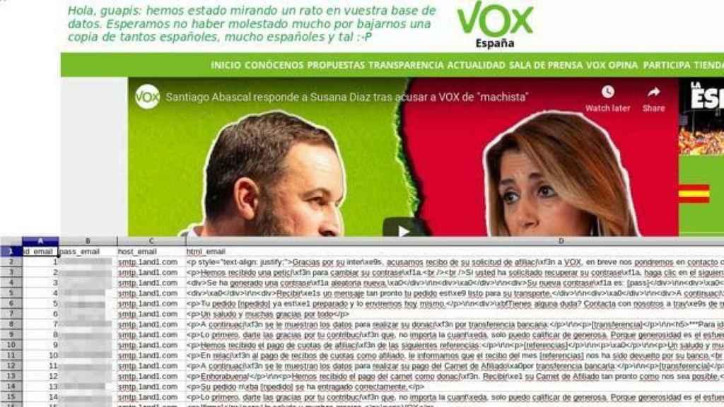 Ataque a la web de Vox.