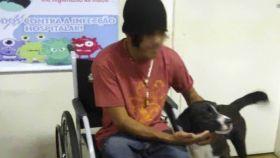 Un mendigo entra en urgencias y la imagen de sus perros esperándole es enternecedora