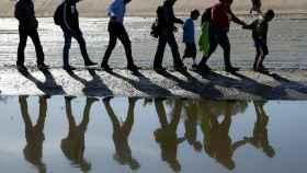 Inmigrantes de la caravana que va hacia EEUU, retenidos en la frontera con Texas.