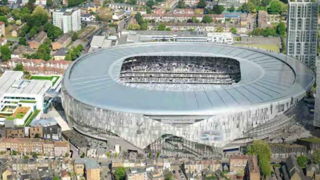 Nuevo estadio del Tottenham. Foto: tottenhamhotspur.com