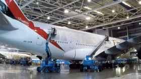 En nuevo avión de Fly Emirates personalizado con los jugadores del Real Madrid