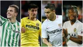 Ben Yedder, Gerrard Moreno, Batshuayi y Lo Celso