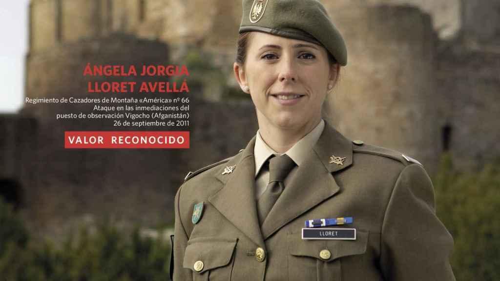 La soldado Ángela Jorgia, del regimiento de montaña América 66.