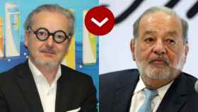 Eduardo Barriga (Boiron) y Carlos Slim (Realia).
