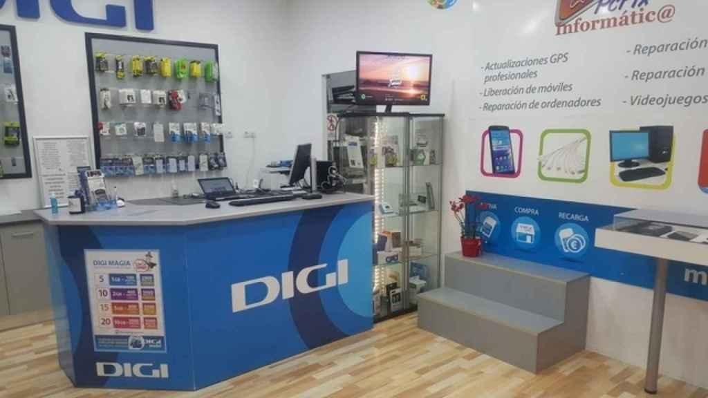Una de las tiendas de Digi en Madrid, en una imagen de archivo.