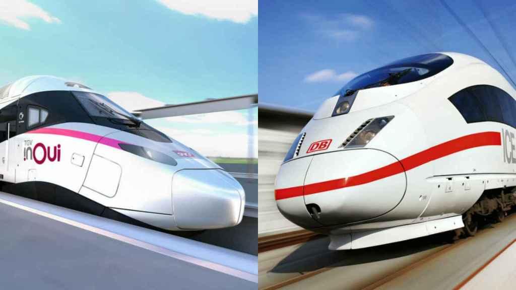 Trenes de alta velocidad de SNCF y Deutsche Bahn.