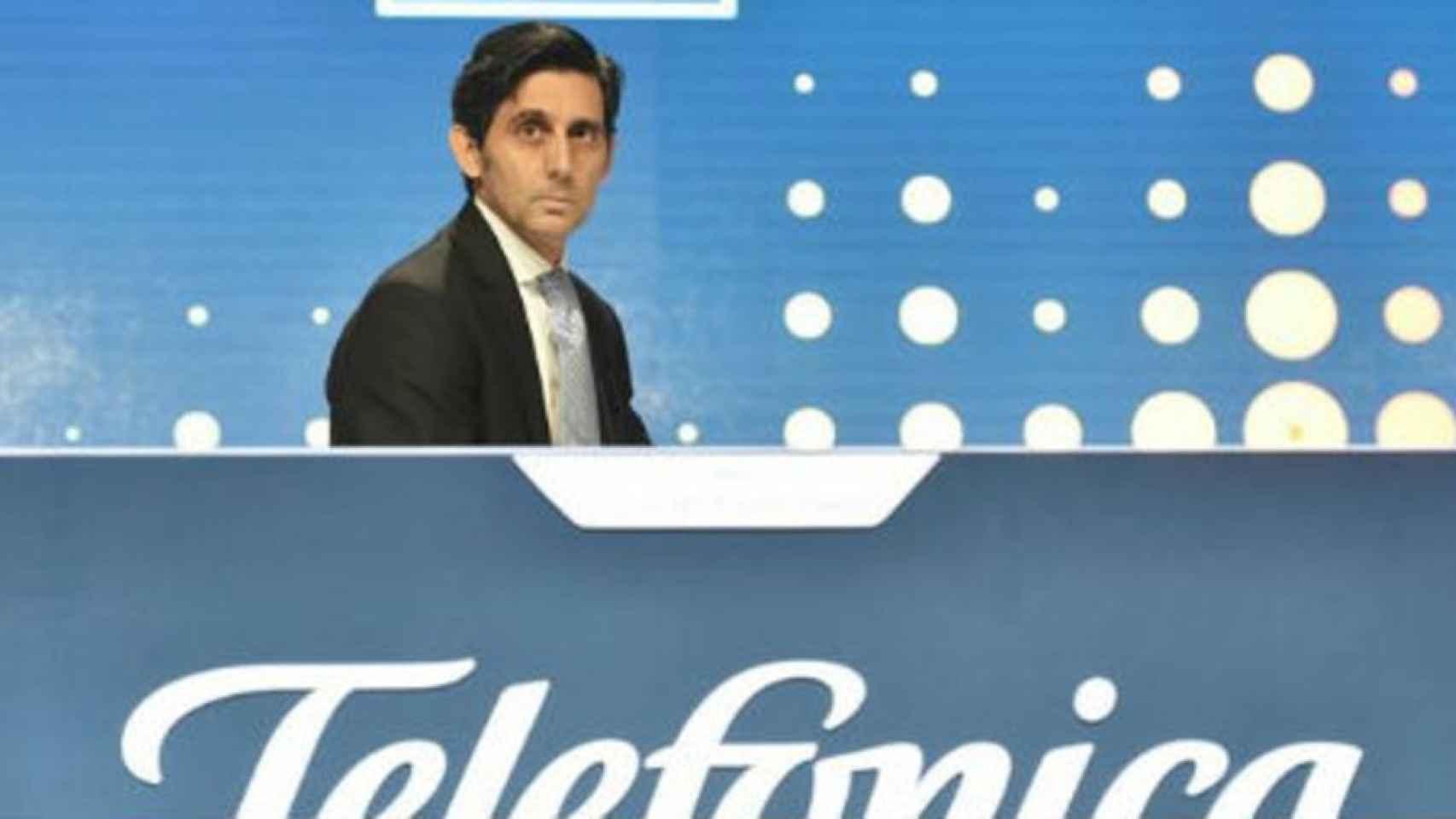 José María Álvarez-Pallete, en la última Junta de Accionistas de Telefónica.