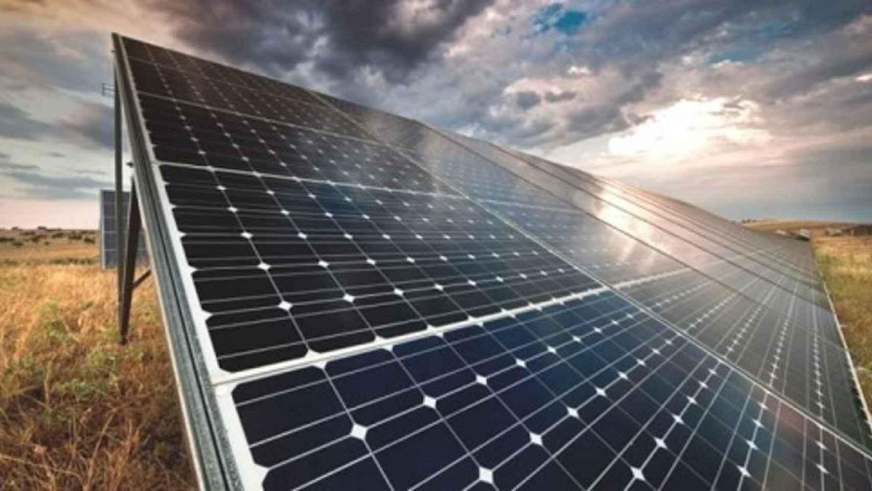Un panel de energía solar.