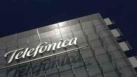 Edificio corporativo de Telefónica, en su sede central de Madrid.