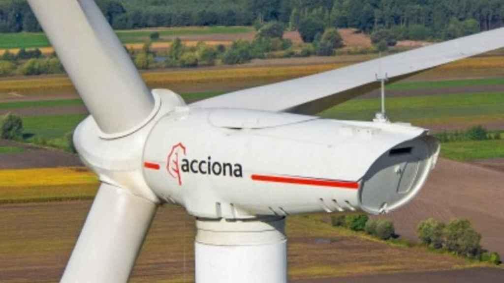 Una turbina eólica de Acciona.