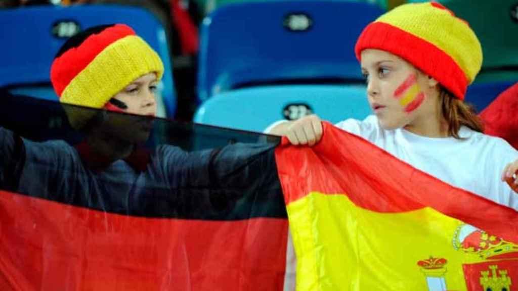 Imagen referencial de enfrentamiento entre Alemania y España.