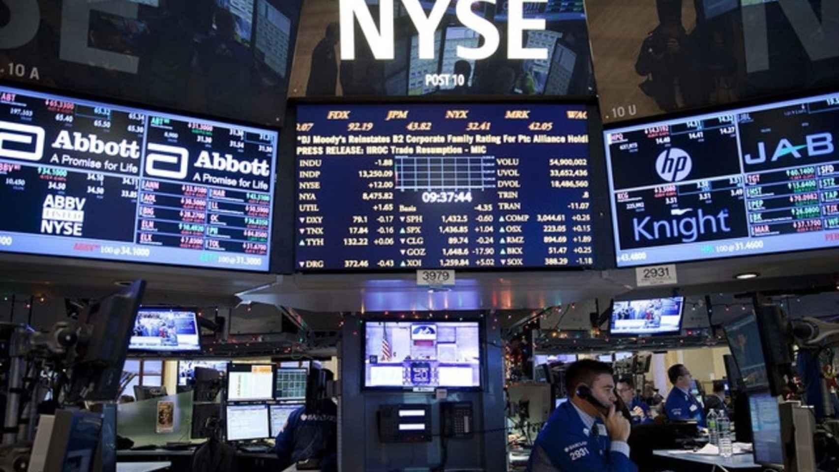 La Bolsa de Nueva York en una imagen de archivo.