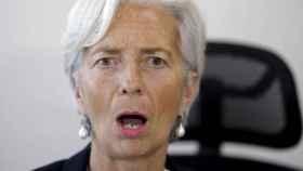 La presidenta del BCE, Christine Lagarde, con gesto de sorpresa.