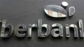 Rótulo en una sucursal de Liberbank.