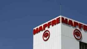 Rótulo de Mapfre en uno de sus centros.
