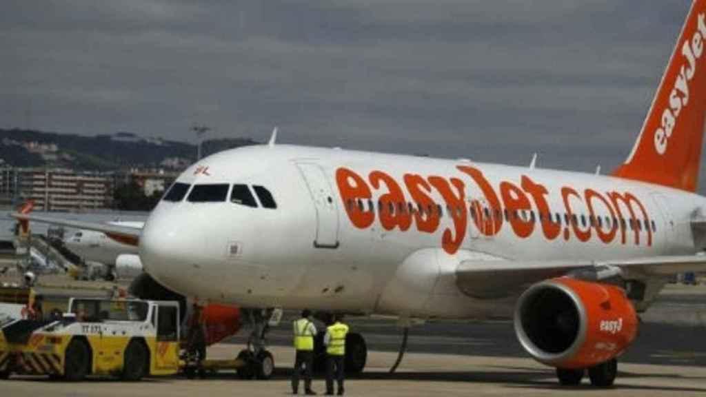 Uno de los aviones de la flota de easyJet.