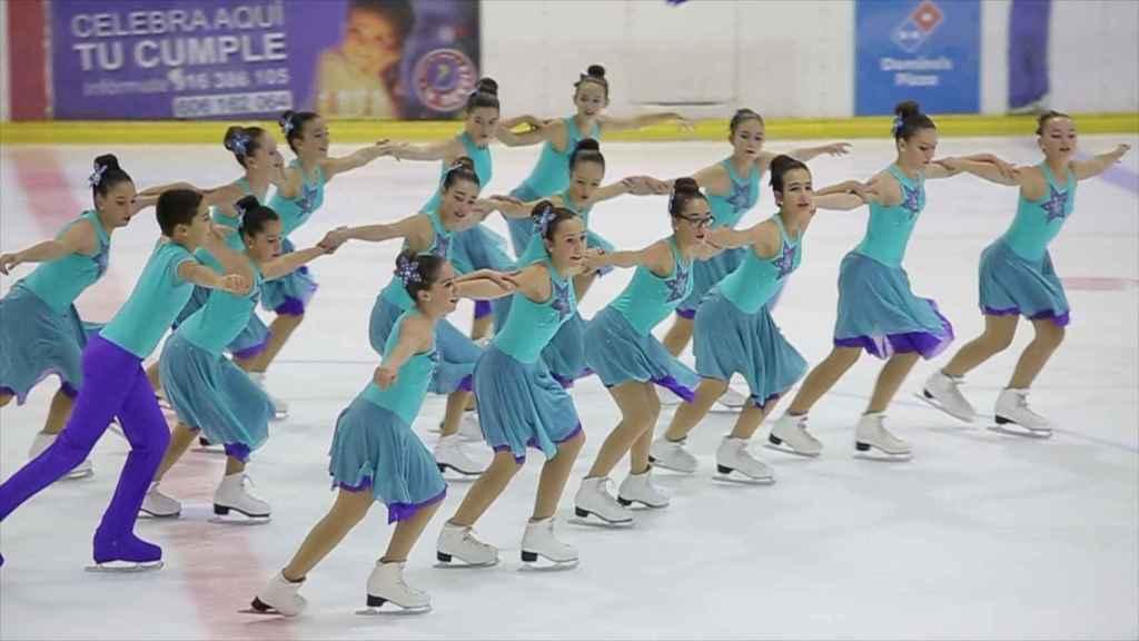 Las chicas de patinaje sincronizado de La Nevera