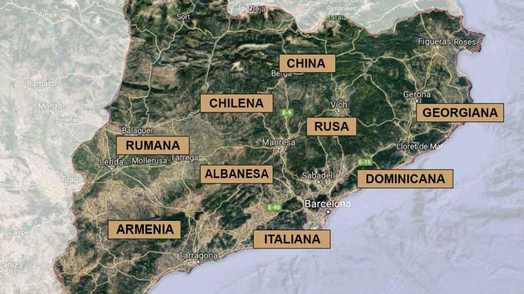 Organizaciones criminales de todo el mundo han establecido su base de operaciones en Cataluña