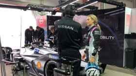 Carmen Jordá, en los test de Formula E