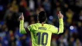 Messi celebra un gol ante el Levante