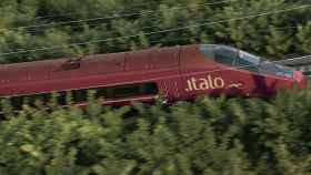 Un tren de alta velocidad de Italo.