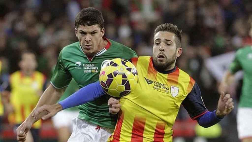 Selección Vasca y Catalana de Fútbol