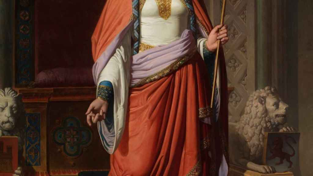Doña Urraca, pintada por Carlos Múgica y Pérez