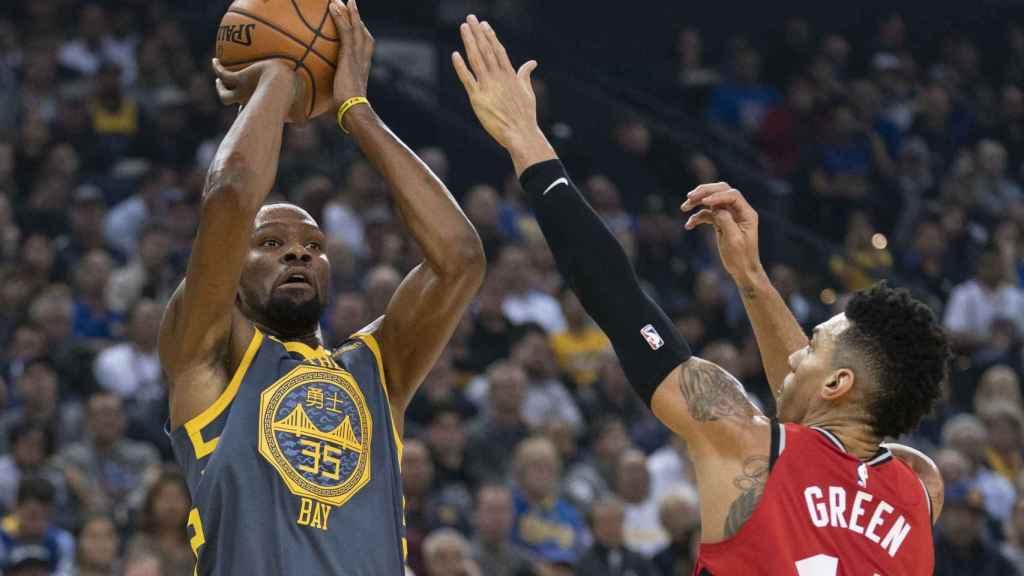 Kevin Durant frente a los Toronto Raptors