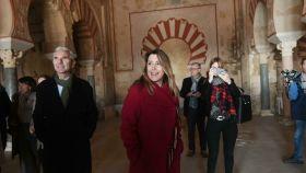 Susana Díaz, en una visita este mes de diciembre a Medina Azahara.