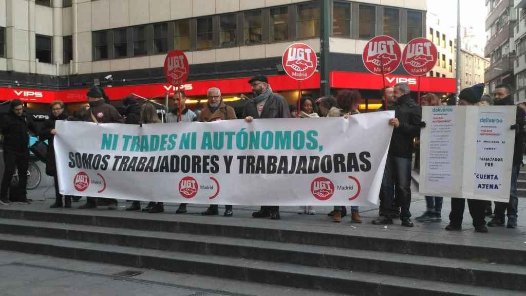 El juicio sobre la situación laboral de los 'riders' madrileños se aplaza a mayo