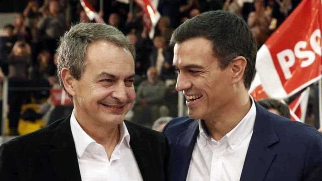 José Luis Rodríguez Zapatero y Pedro Sánchez, en una imagen de archivo