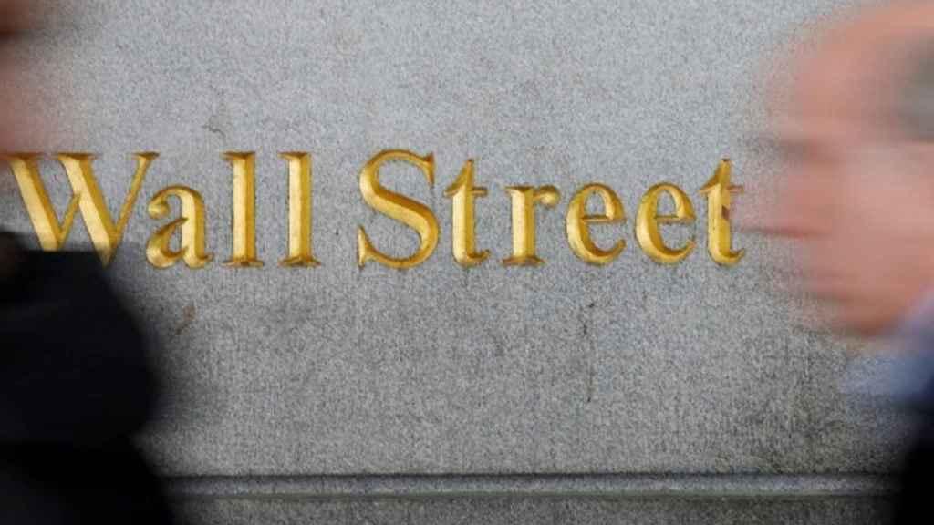 Un indicativo de Wall Street, calle donde tiene su sede la Bolsa de Nueva York.