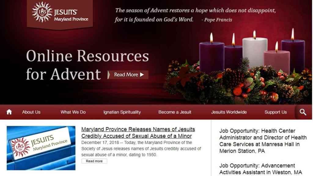 Web de los jesuitas de Maryland.