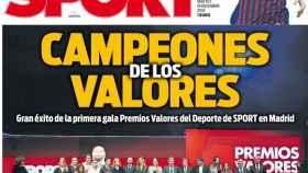 Portada del diario Sport (18/12/2018)