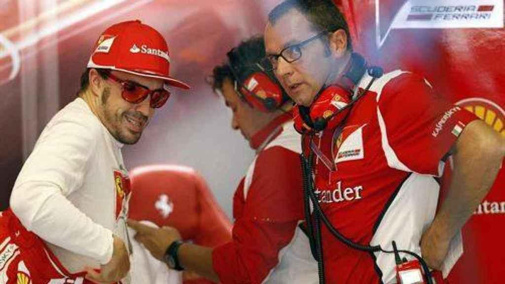 Fernando Alonso y Sandro Domenicali durante la etapa de ambos en Ferrari
